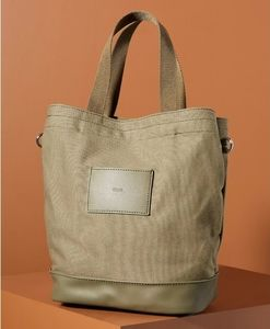 Raven Colorblocked Tote Bag in olive green